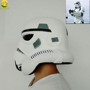 Image 5 - Darth Vader kask gwiezdne wojny maska cesarski szturmowiec Halloween w stylu Cosplay akcesoria na imprezę