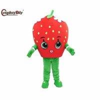 Cosplaydiy Cartoon Character Strawberry Mascot Costume For Adult Unisex Halloween Christmas Cosplay Mascot Suit