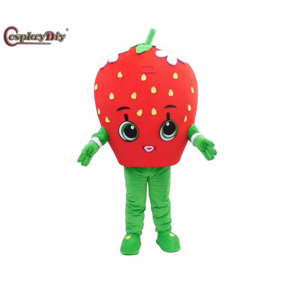 Cosplaydiy personnage de dessin animé fraise mascotte Costume pour adulte unisexe Halloween noël Cosplay mascotte Costume