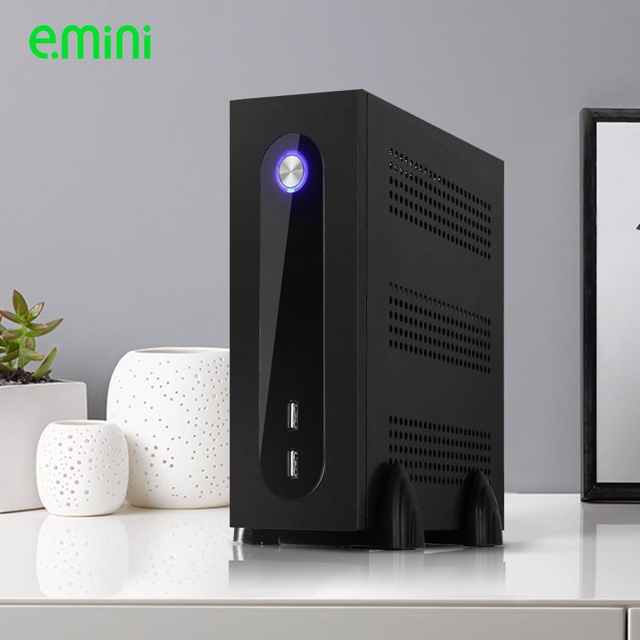 Preta do Computador do Desktop de Realan Itx com Fonte de Alimentação x com 2 Caixa Mini Wifi 6 Usb 2.0 Sgcc 0.5mm g3 2 x