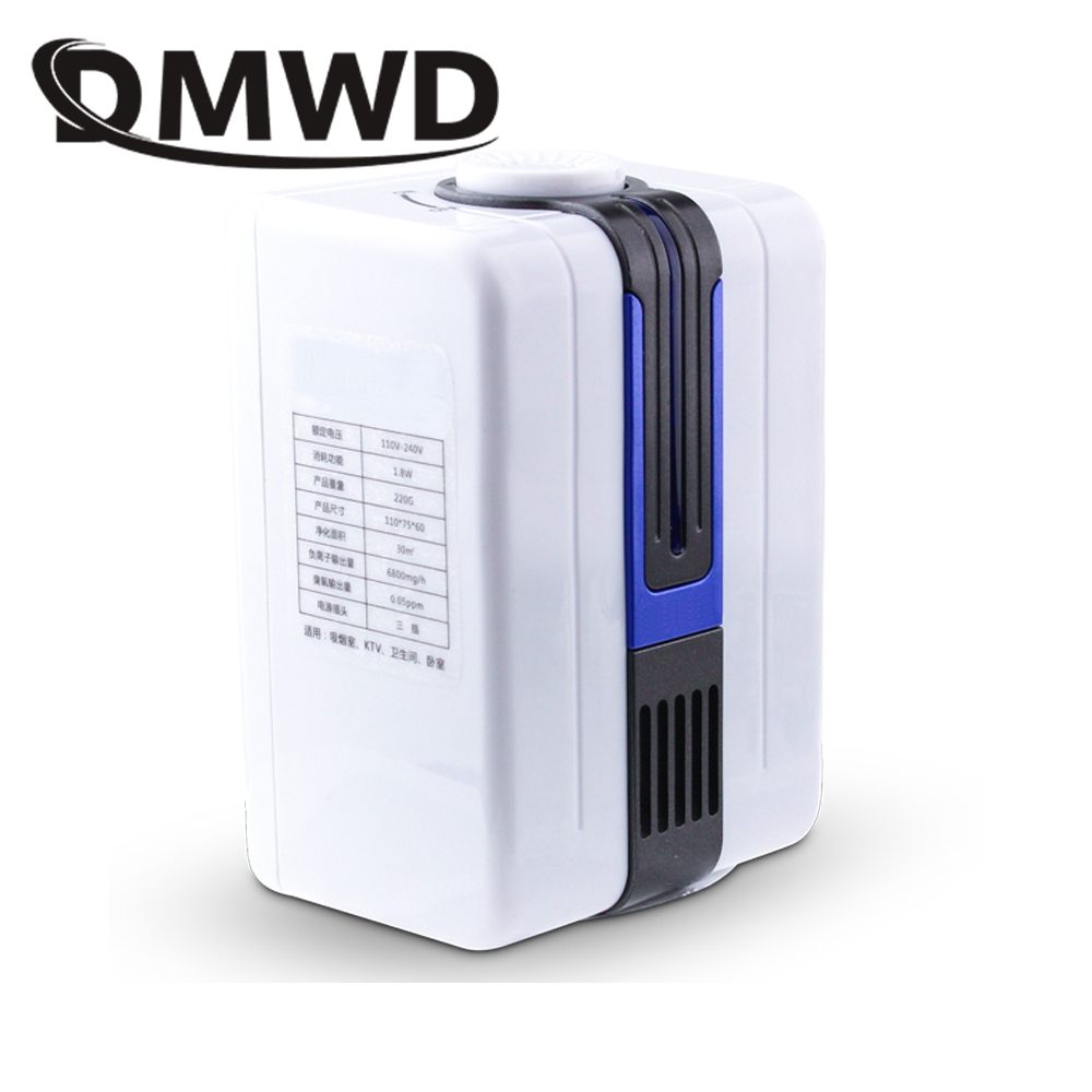 DMWD MINI Electric Air Purifier Negative Ion Ozone Generator Ionizer Oxygen Bar Ozonizer Smoke Dust Cleaner Deodorizer 110V 220V цена