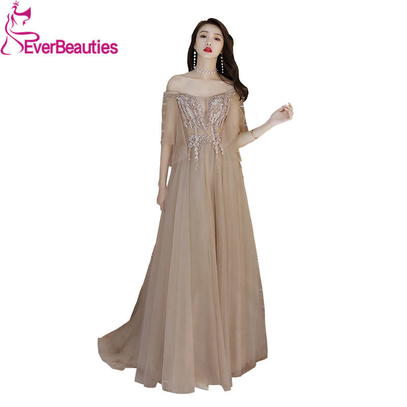 Sexy   Evening     Dresses   Long Elegant Appliques Beading Floor-length Formal Party Gowns Robe De Soiree   Evening   Gowns