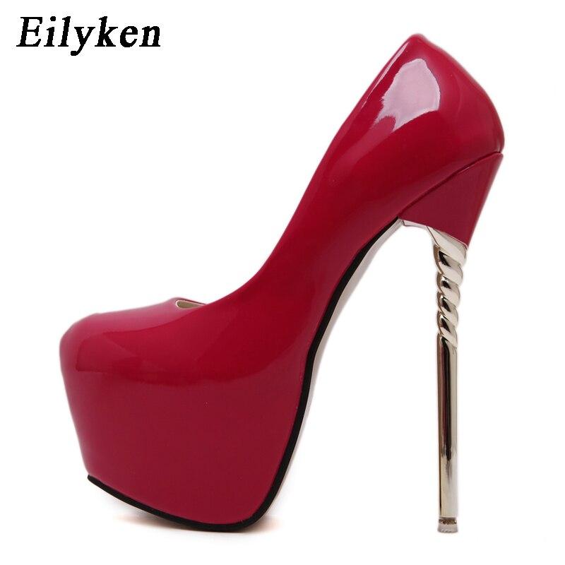 f4df7c4c1ed6ce8 Eilyken/Новинка 2019, весенние женские туфли-лодочки, пикантные свадебные  туфли на очень высоком каблуке, туфли из лакированной кожи для вечерние.