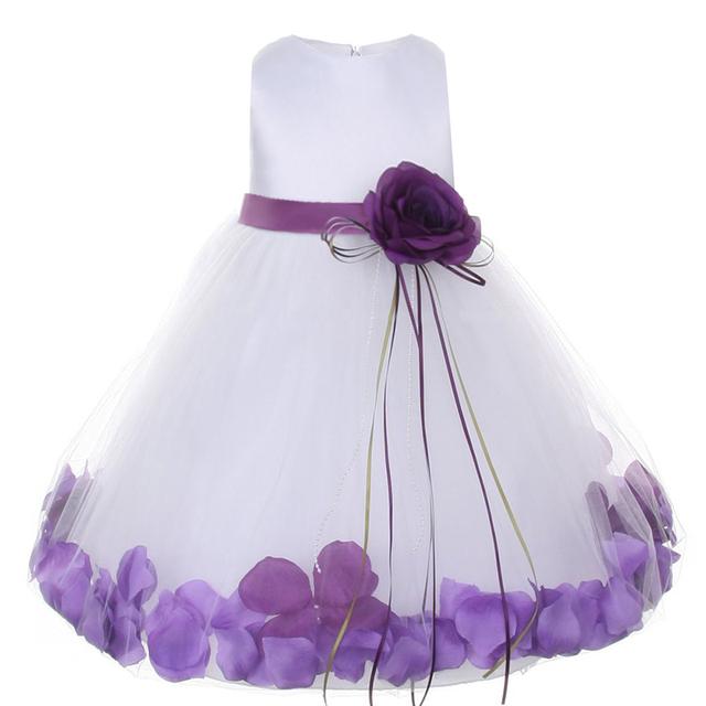 Baby girl primer bebé cumpleaños party dress flor pequeña dama de honor de la princesa vestido de la muchacha del niño traje de bautizo bautismo ropa