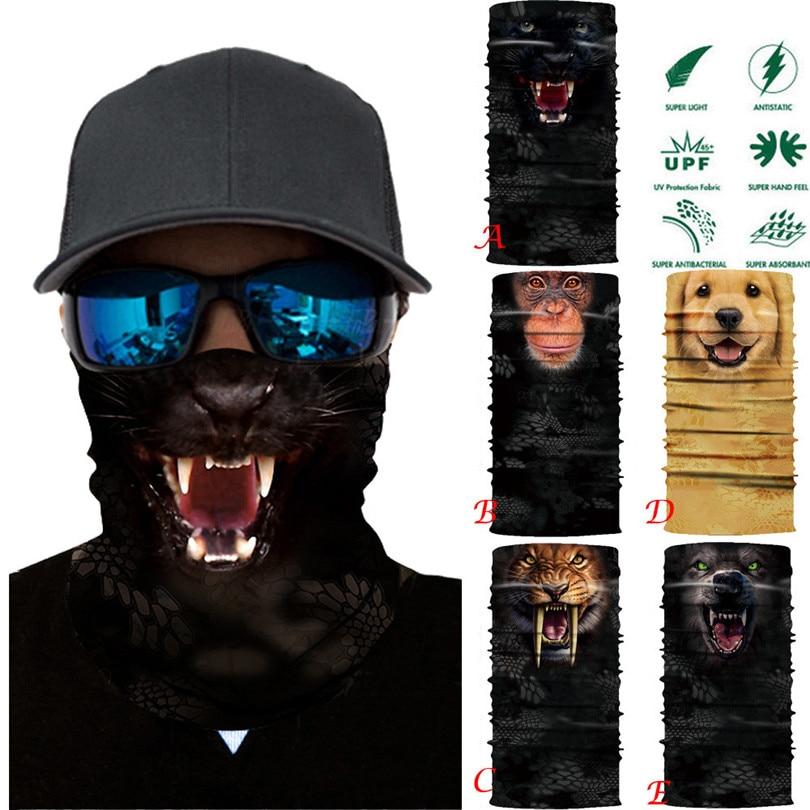 2018 Summer Cycling Face Mask Animal Veil Head Scarf Neck Warmer Multi Function Ski Balaclava Headband 2A cycling motorcycle head scarf neck warmer face mask ski balaclava headband face shield skull mask