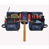 Urijk High Quality 600D Oxford Cloth Packet Electrician Storage Tools Waist Belt Bags Hardware Electrical Tool
