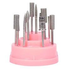 Moterys Mada profesija 48Hole Pink Organizatorius Manikiūro dėžutė Displayer Nagų grąžto laikiklio stendas Drop Shipping 4A18