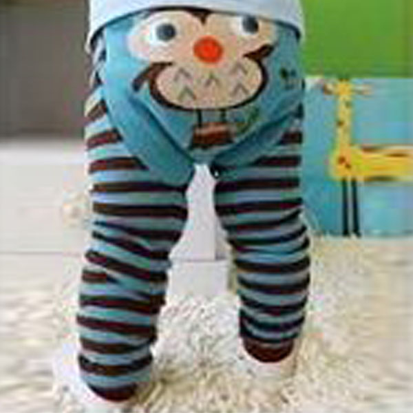 6 Color Cartoon Striped Baby Kid Infant Toddler Newborn Leggings Cute Long Pants