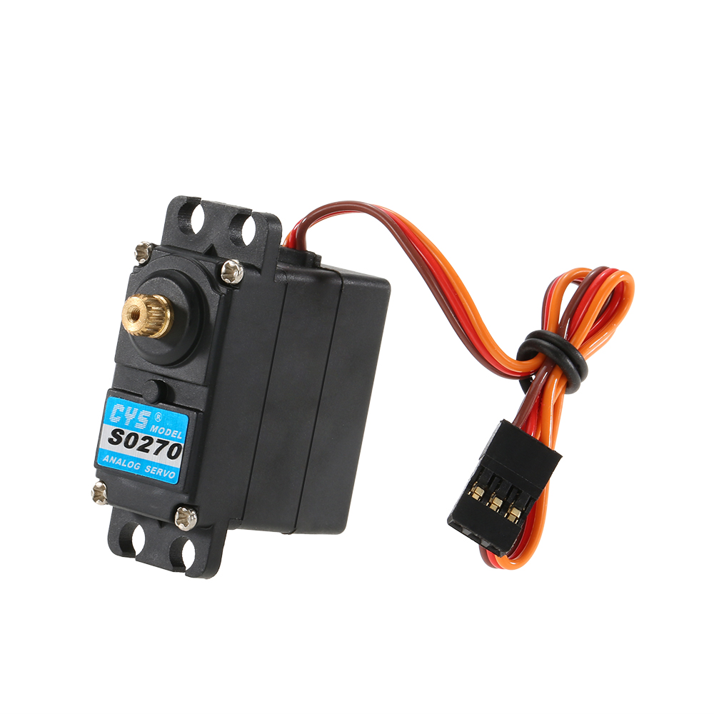S0270 27g Analog Metal Gear Analog Standard Servo for RC Drone Boat and 1:12 RC Car 1pcs mg996r servo metal gear for futaba jr rc car rc boat rc helicopter model parts