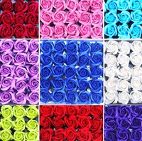 50pcs Body Bath Washing Soap Rose Flowers Head For Wedding Party Gift Favor Home Hotel Office Decoration