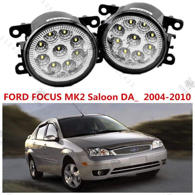 For FORD FOCUS mk2 II saloon   2005-2008   car styling led LAMPS Refit fog lights    12V  2 PCS  White Blue Yellow huge lovely plush teddy bear toy with blue heart and bow creative bear doll gift about 120cm