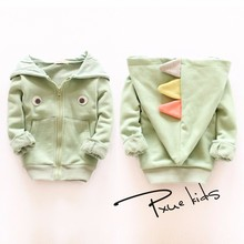 New Spring and autumn boy and girls Coats Rabbit style cotton coat Unisex children hoodies kids Outerwear Jacket tops 2-7Y