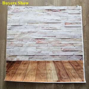 Image 2 - Laeacco Brick Wall Wooden Floor Grunge Portrait Photography Backdrops For Doll Pet Vinyl Photo Backgrounds For Photo Studio Prop