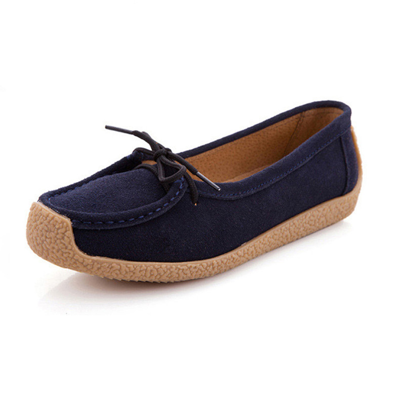 A Handmade genuine leather flat shoes women loafers female casual shoes women flats shoes slip on leather car-styling flat shoes pl us size 38 47 handmade genuine leather mens shoes casual men loafers fashion breathable driving shoes slip on moccasins