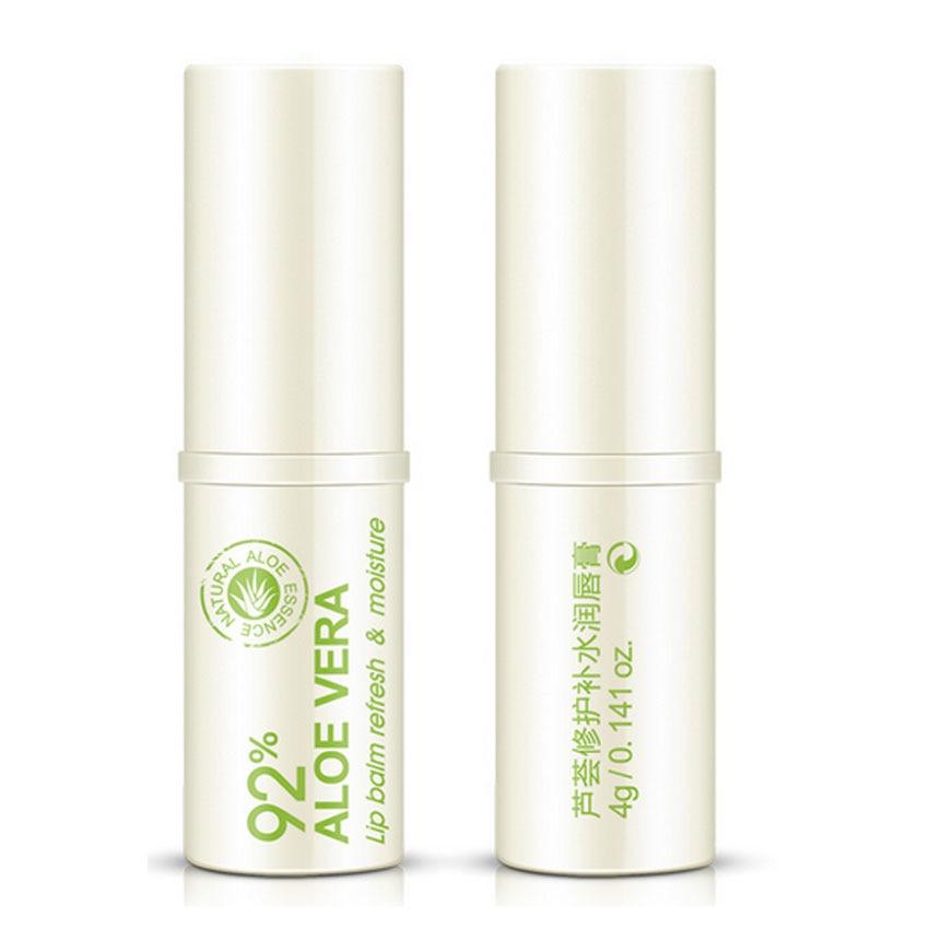 BIOAQUA Natural Aloe Moisturizing Lip Balm Colorless Refine Repair Lip Wrinkles for Woman Winter Lip Care Lipsticks