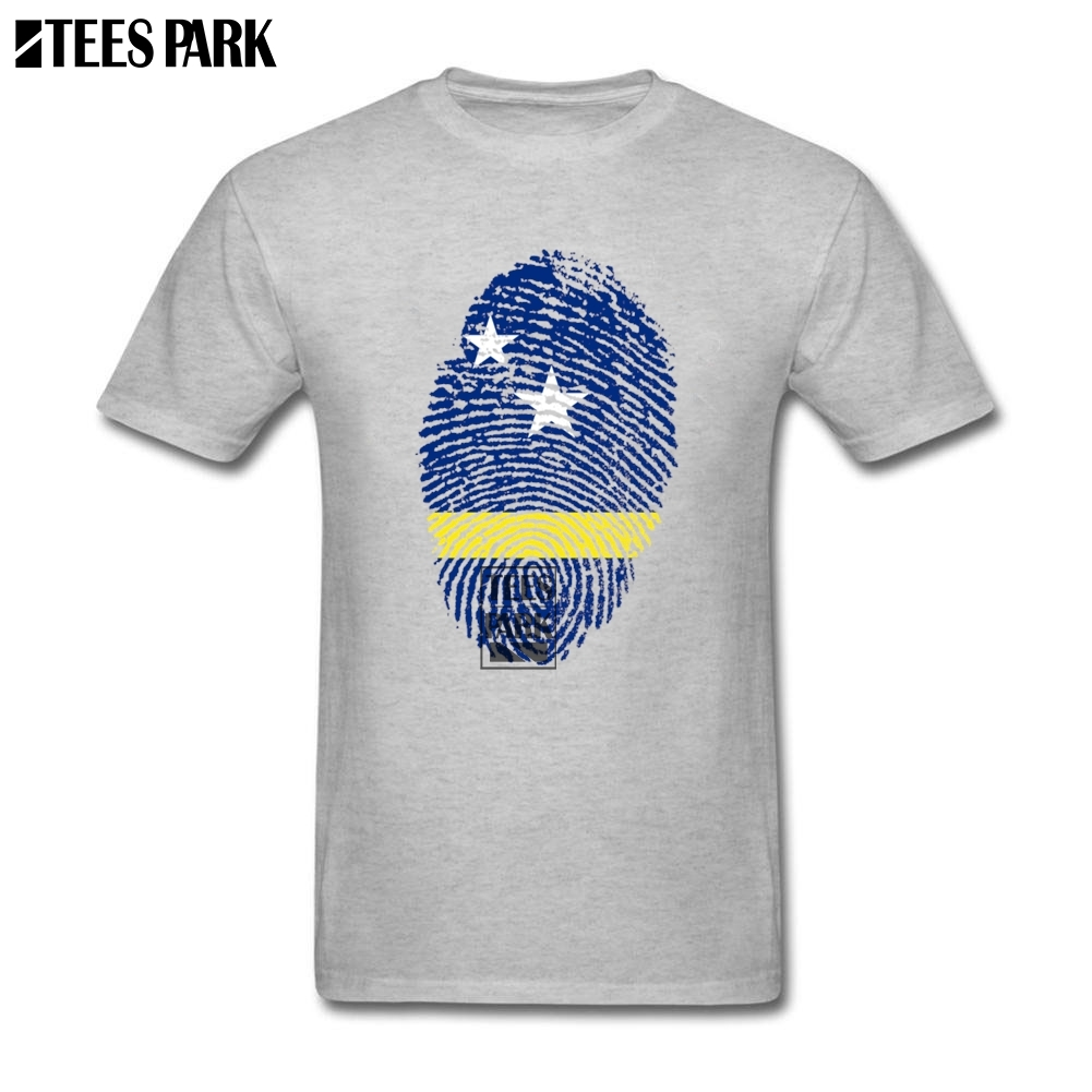 Cotton XS-XXXL Shirt Curacao Flag Fingerprint Cool T Shirts Men's Crewneck Short Sleeve T Shirt New Teenage Cool Tees