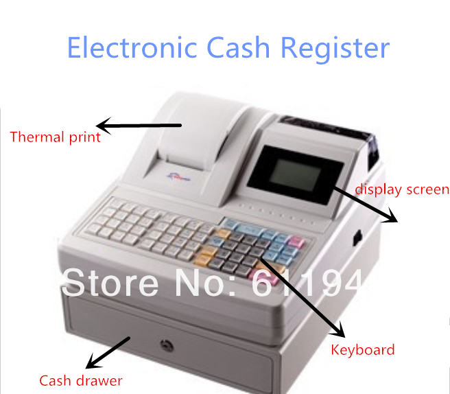 electronic cash register with lcd display zq ecr1000af commercial cash register applicable to. Black Bedroom Furniture Sets. Home Design Ideas