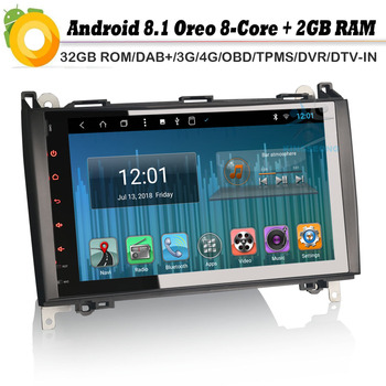9 Android 8.0 Autoradio DAB+Car stereo Car Radio Player for Mercedes Benz A/B Class Sprinter W169 W245 Viano Vito Sat Nav WiFi image