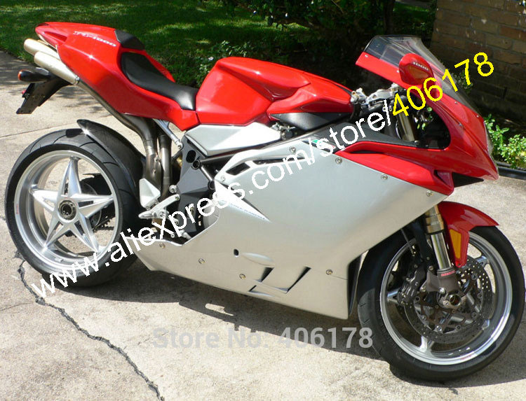 Hot Sales,Sportbike fairings For MV Agusta 1+1 R312 F4 1000 2005 2006 F4 1000 Red Gray Motorcycle Parts fairings set