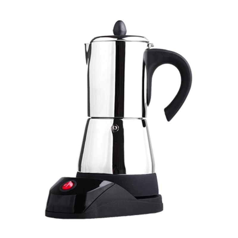 300ml Stainless Steel Coffee Pot Electric Moka Coffee Maker Teapot Stovetop Tool Filter Percolator Cafetiere Percolator Tool stainless steel coffee pot moka coffee maker teapot mocha stovetop tool filter percolator cafetiere percolator tool