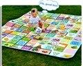Новый 180 * 200 см двусторонняя tapete де atividades играть коврик tapetes детские тренажерный зал пляж сканирование мат пэ водонепроницаемый коврик для пикника
