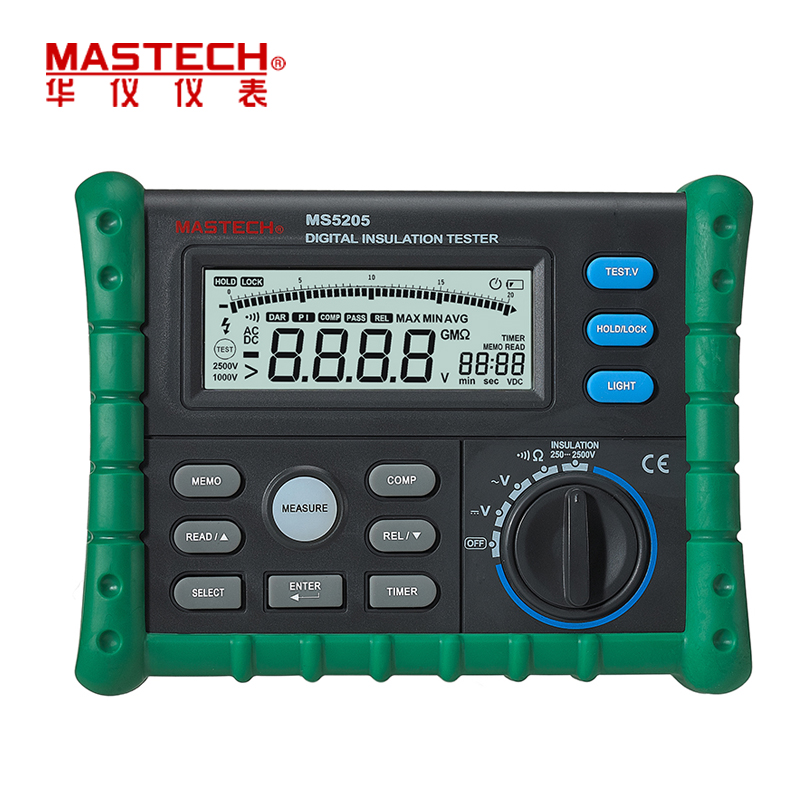 MASTECH MS5205 Portable Digital Insulation Resistance Meter Tester Megger MegOhm Meter multimeter High Precision English panel digital insulation tester megger megohm meter ar907a