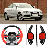 Carbon Fiber Gear DSG Steering Wheel Paddle Shifter Cover Fit For Audi A4 2009 2012