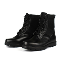 Outdoor Genuine Leather U.S. Military Assault Tactical Boots Breathable Anti Slip Men Fishing Travel Hiking Shoes Wear resistant