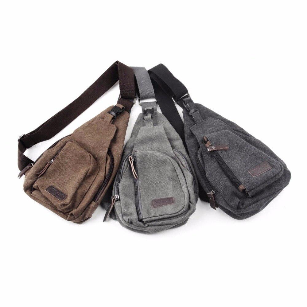 Men Messenger Chest Bag Pack Crossbody Bags Canvas Sling Single Shoulder Strap Back Backpack Travel Hiking Military 2017