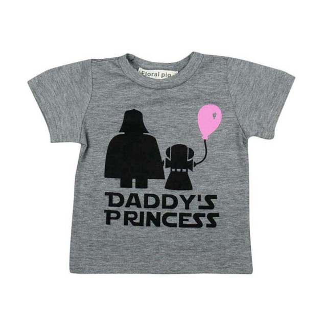 56e73c986 MUQGEW Baby Girls Letter Print Daddy's Princess T-shirt Tops Newborn Infant  t-shirt/bodysuit baby girl short sleeve shirts