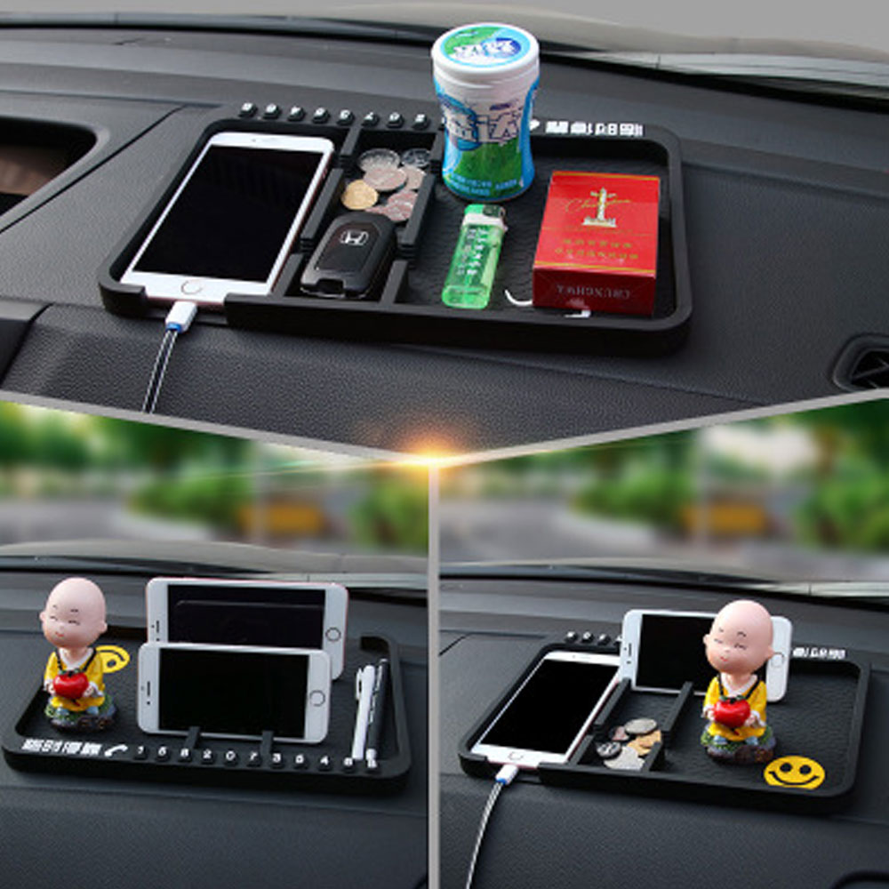ET Multifunctional Car Anti-Slip Mat Dashboard Mount Sticky Pad Mobile Phone Stand Holder GPS Non-slip Mat For Glasses Coins Ket