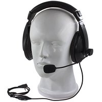 2 دبوس المهنية الضوضاء إلغاء سماعة سماعة العلوية مع بوم mic ميكروفون ل cb الراديو baofeng quansheng tyt GT-3