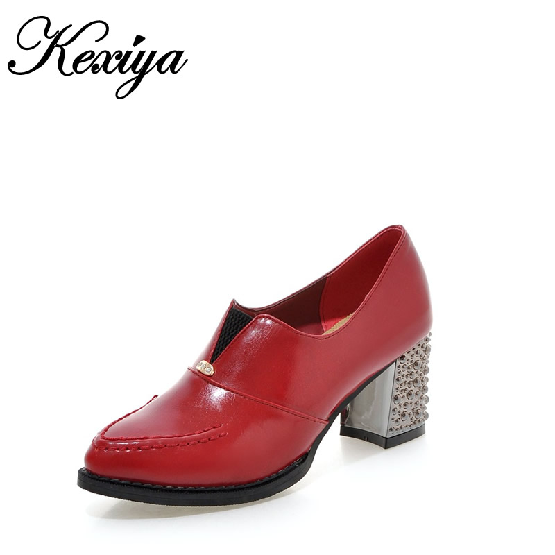 2016 New Classics Spring/Autumn red women pumps plus size 31-48 fashion Pointed Toe Slip-On ladies high heel shoes 010A2 2018 new plus big size 33 44 black red peep toe fashion sexy high heel platform spring autumn lady shoes women pumps d1103