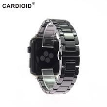 Bracelet en céramique, noir et blanc, pour Apple Iwatch séries 5 2 3 4 38 40 42 44mm, bracelet de montre, à la mode