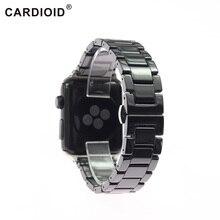 באיכות גבוהה בשחור לבן קרמיקה רצועת עבור אפל Iwatch Series5 2 3 4 38 40 42 44mm לצפות צמיד חגורת watchbands אופנה