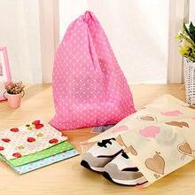 1PCS Colourful Portable Shoes Bag Travel Storage Pouch Drawstring Dust Bags