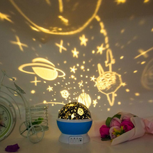 цена на Night Light Stars Starry Sky LED Night Light Projector Moon Lamp Battery USB Kids Gifts Children Bedroom Lamp Projection Lamp