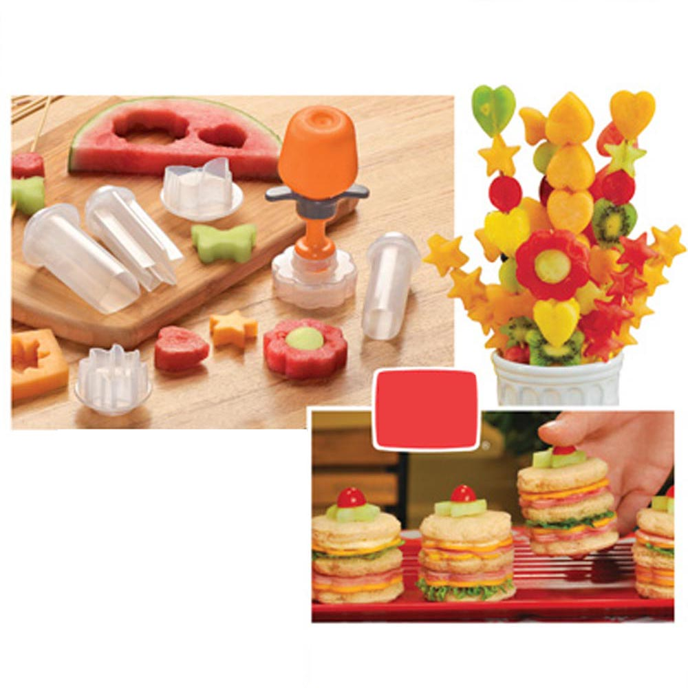 Creative Kitchen Accessories Cooking Tools Plastic Fruit Shape Cutter Slicer Veggie Food Decorator Fruit Cutter 4