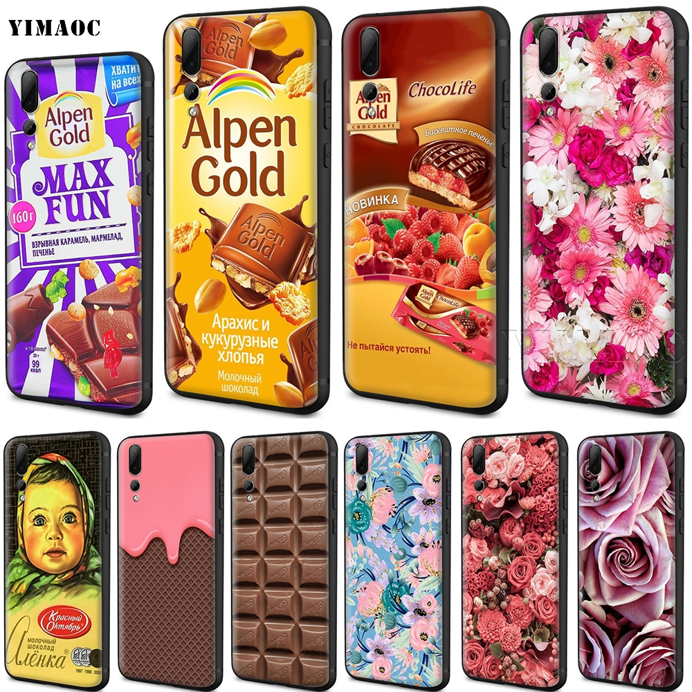 YIMAOC Alenka Alpen <font><b>Gold</b></font> Chocolate Case for Huawei Mate 20 <font><b>Honor</b></font> 6a 7a 7c 7x 8 8x <font><b>9</b></font> 10 Nova 3i 3 <font><b>Lite</b></font> Pro Y6 2018 Prime image