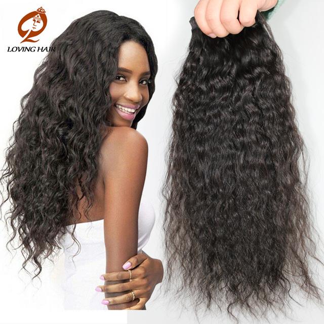 Hj belleza de la armadura onda Natural del pelo rizado brasileño Ccean virgen de la onda del pelo 3 Bundles Water Wave brasileño de la virgen del pelo Ocean Wave