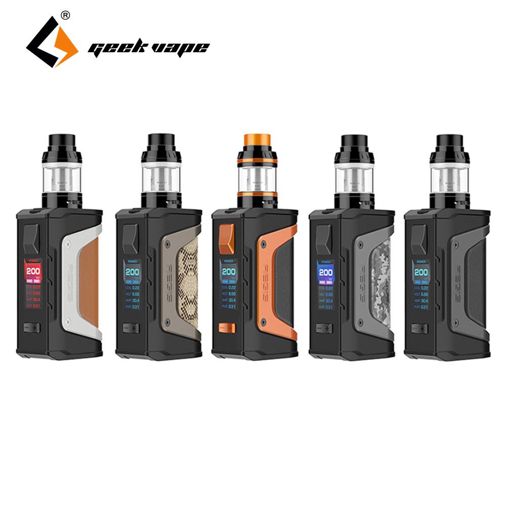 Original GeekVape Aegis Legend 200W TC Kit with Aegis Legend MOD & 4ml Aero Mesh Version Tank N0 18650 Battery Box Mod Aegis Kit 100% original geekvape gbox mod 200w gbox squonker box mod vape fit 8ml squonk bottle support radar rda tank