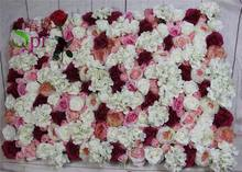 SPR Free Shipping 10pcs/lot Artificial rose peony &hydrangea flower wall wedding backdrop arch table flower