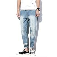 Size 28 38 Japanese Street Fashion Men Loose Casual Jeans Male Hip Hop Denim Pant Boy