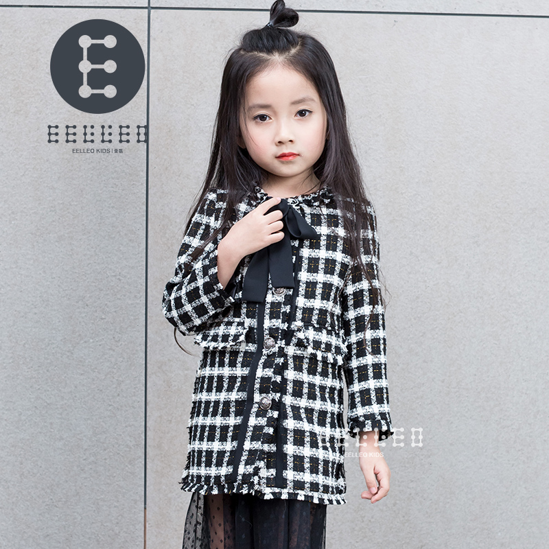 Girl Autumn Winter Coat New 2017 Fashion Baby Girls Plaid Blazer Coat Jacket Children Outwear Classic Black Trench Coat недорого