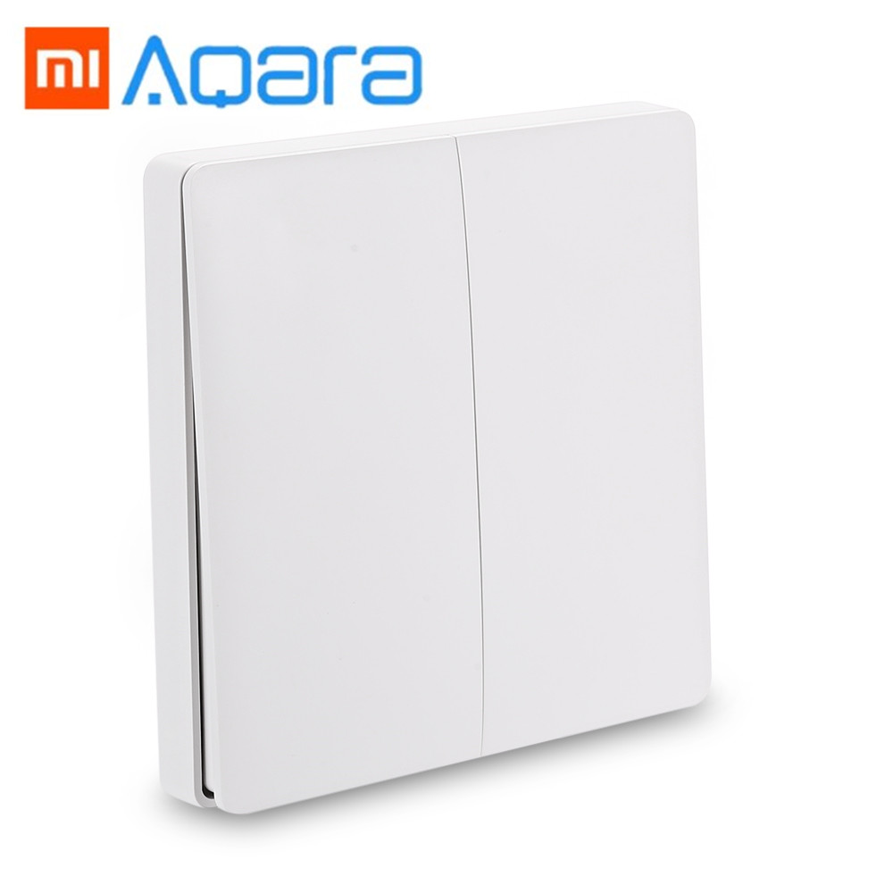 все цены на Xiaomi WXKG02LM Aqara Smart Light Switch Wireless Version Double Key Wall Switch for Home Smart Switch Device