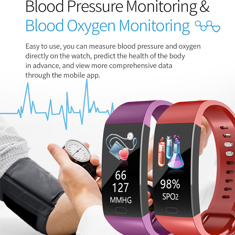 2019 Smart Bracelet Men Women Blood Pressure Measurement Smart Wristband Waterproof Heart Rate Fitness Tracker Smart Band Watch