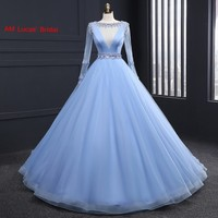 New A Line Evening Dresses With Long Sleeves 2017 Celebrity Formal Evening Gowns For Wedding Party
