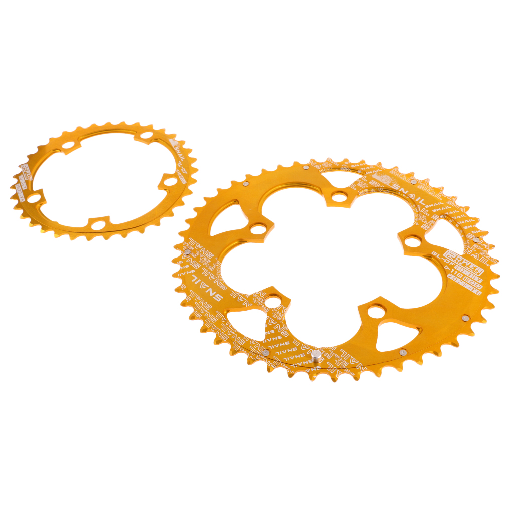 Bike Racing Double Oval Chain Ring 35T/50T 9/10/11 Speed BCD 110mm Chainring Set