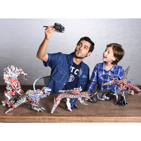 2018 Kid Christmas Gift Dinosaur Series Pliosaurus 3D Assembly Puzzle Educational Toy for Children Playing Kits