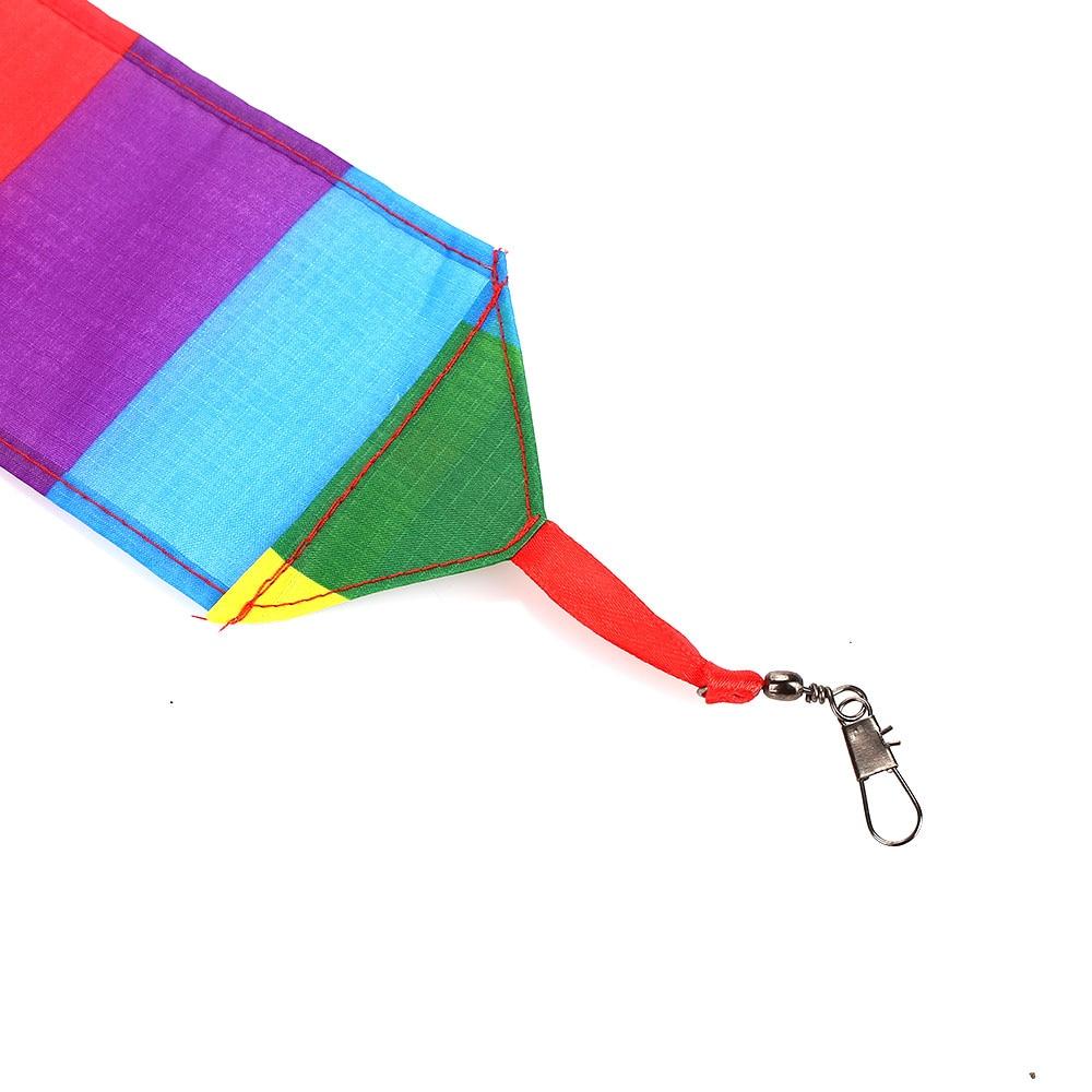 Кайт-хвост Радуга кайт-хвост воздушный змей аксессуары 10 м многоцветный Радуга полиэстер упражнения открытый начинающих способность удобно